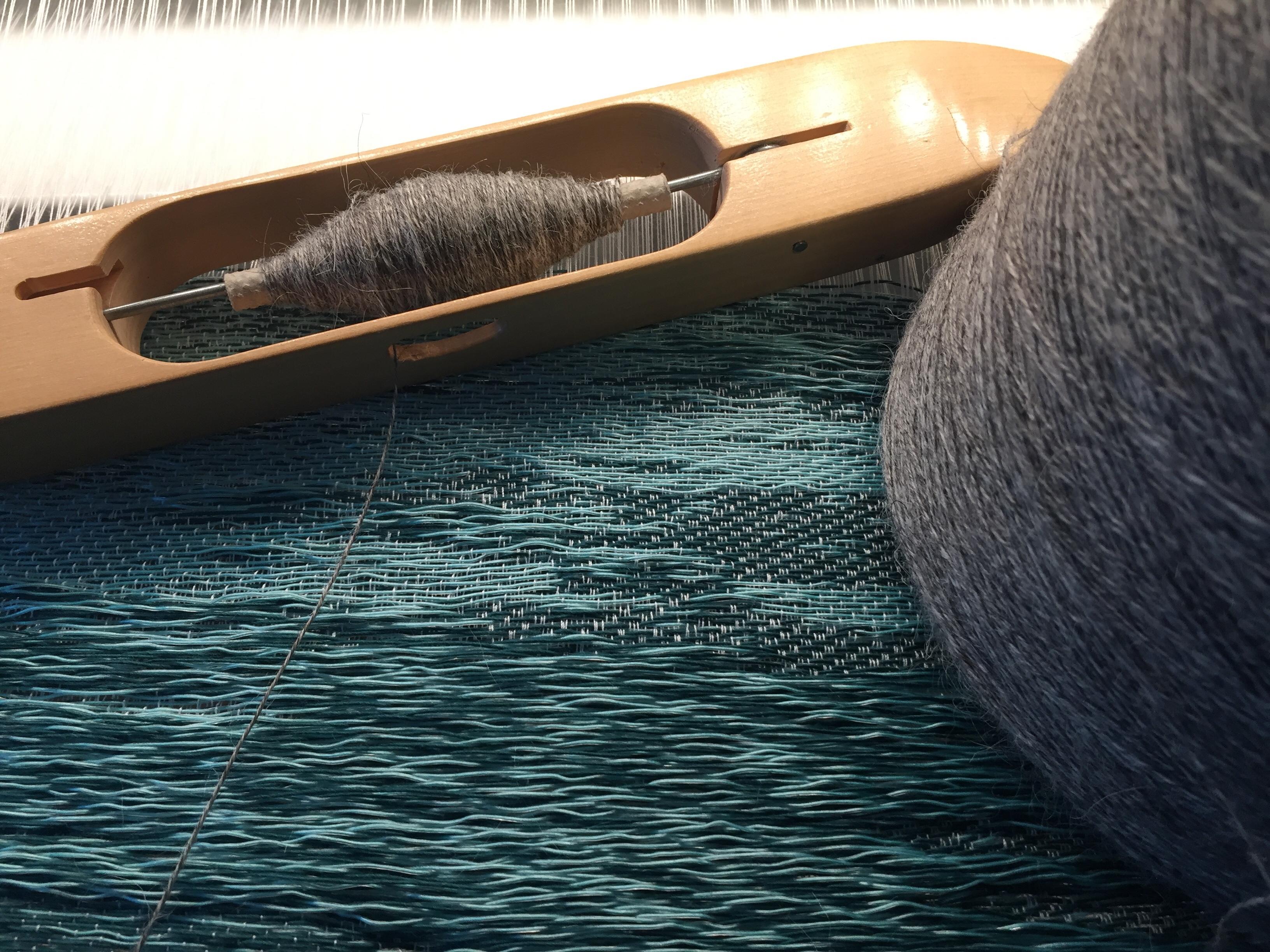 Ocean free flow jacquard weave